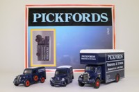Corgi Classics D74/1; Pickfords 3 Van Set; Ford Popular, Bedford O Pantechnicon, Morris 1000