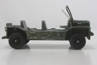 Dinky Toys 601; Austin Mini Moke; Para Moke; Drab Green, Speedwheels