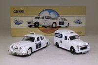 Corgi Classics 97697; Leicestershire and Rutland Police Set; Morris Minor Van & Jaguar Mk II
