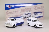 Corgi Classics 97740; The Times Van Set; Bedford CA Van & Morris Minor Van