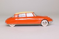 Dinky Toys 24CP; Citroen DS19: French Dinky; Orange, Cream Roof