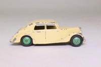 Dinky Toys 158; Riley Saloon; Cream, Green Hubs