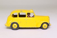 Dinky Toys 40h; Austin Taxi Cab; Yellow, Brown Base