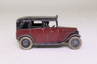 Dinky Toys 36g; Taxi With Driver; Maroon, Black, Open Rear Window