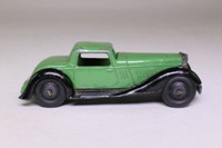 Dinky Toys 36b; Bentley 2-Seater Sports Coupe; Green, Black Chassis