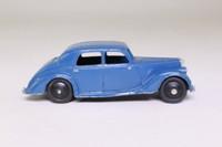 Dinky Toys 40a; Riley Saloon; Mid Blue, Black Hubs