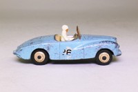 Dinky Toys 107; Sunbeam Alpine; Competition, Blue, Cream Seats, RN26, White Driver