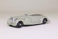 Dinky Toys 38c; Lagonda Sports Tourer; Light Grey, Black Hubs