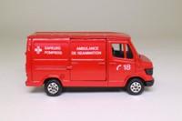 Corgi 535; Mercedes-Benz Van 207D; Ambulance de Reanimation, Sapeurs Pompiers