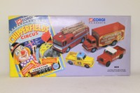 Corgi Classics 31703; Chipperfields Circus 4 Pce Set; Land-Rover, Morris Minor Pickup, Thames Trader & AEC Ergo Fire Engine