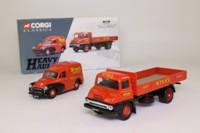 Corgi Classics 31006; Wynn's Heavy Haulage Set; Thames Trader Dropside & Morris Minor Van