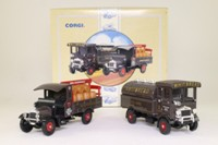Corgi Classics 97755; Whitbread Brewery Dray & Tanker Set; AEC 508 Cabover & Thornycroft