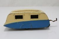 Dinky Toys 190; Trailer Caravan; Cream over Blue