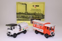 Corgi Classics D67/1; United Dairies AEC Truck Set; Cabover Box Van & Tanker