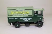 Corgi Classics C897; AEC 508 Cabover Van; Potter's Asthma Cure, Green