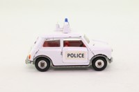 Dinky Toys 250; Mini-Cooper Police Car; White, Spun Hubs