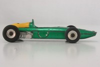 Dinky Toys 243; BRM P57 Racing Car; Metallic Green, Yellow Cowl, RN7