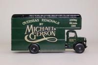 Corgi Classics Q953/8; Bedford O Series Pantechnicon; Michael Gerson, Overseas Removals
