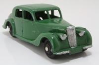 Dinky Toys 40a; Riley Saloon; Dark Green, Black Hubs