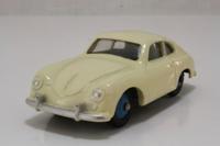 Dinky Toys 182; Porsche 356a; Cream, Blue Hubs, Mottled Base