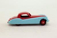 Atlas Dinky Toys 157; Jaguar XK120; Cerise Over Sky Blue, Cerise Painted Hubs