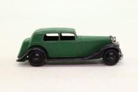 Dinky Toys 30c; Daimler Car; Green, Black; Ridged Hubs, Plain Closed Base