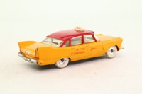 Dinky Toys 265; Plymouth Plaza; US Taxi; Yellow, Red Roof