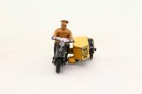 Dinky Toys 44b; AA Motor Cycle Patrol; Black & Yellow