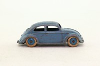 Dinky Toys 181/262; Volkswagen Beetle; Blue Grey, Blue Hubs