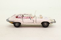 Dinky Toys 131; Jaguar E-Type 2+2; White, Red Interior, Cast Wire Wheels