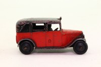 Dinky Toys 36g; Taxi With Driver; Red, Black Roof, Closed Window