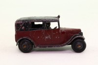 Dinky Toys 36g; Taxi With Driver; Maroon, Closed Rear Window