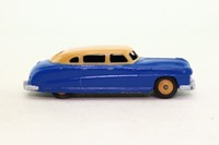 Dinky Toys 139b; Hudson Commodore Sedan; Deep Blue, Tan Roof, Tan Hubs
