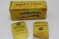 Dinky Toys 796; Healey Sports Boat; Green Deck, Cream Hull, Orange Trailer
