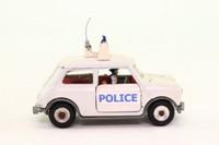 Dinky Toys 250; Mini-Cooper Police Car; White, Spun Hubs, Cast Boot Detail