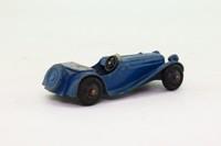 Dinky Toys 38f; Jaguar SS Sports Car; Dark Blue, Grey Seats