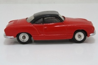 Dinky Toys 187; Volkswagen Karmann Ghia; Red With Black Roof
