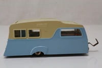 Dinky Toys 117; Caravan 4-Berth; Blue/ Cream, Fawn Interior