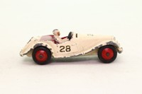 Dinky Toys 108; MG Midget Competition Finish; Cream, Maroon Seats, RN28