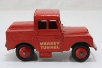 Dinky Toys 255; Land Rover Series 1 86in; Mersey Tunnel Police Van