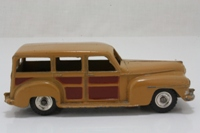 Dinky Toys 344; Plymouth Estate Car; Fawn With Brown Panels, Spun Hubs, Black Gloss Base