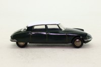 Dinky Toys 24C; Citroen DS19: French Dinky; Metallic Green, White Roof