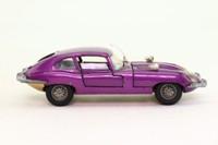Dinky Toys 131; Jaguar E-Type 2+2; Metallic Purple, Blue Interior, Cast Wire Wheels