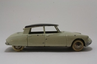 Dinky Toys 24C; Citroen DS19: French Dinky; Ivory, Dark Purple Roof
