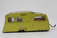 Dinky Toys 117; Caravan 4-Berth; Primrose, Red Interior