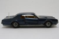 Dinky Toys 174; Ford Mercury Cougar; Dark Blue Metallic, Cast Hubs