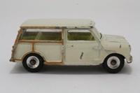 Dinky Toys 197; Morris Mini Traveller; Cream, Yellow Seats, Matt Black Base