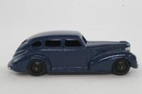 Dinky Toys 39e; Chrysler; Dark Blue, Black Ridged Hubs
