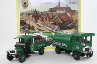 Corgi Classics D51/1; Greene King Brewery 2 Truck Set; AEC Cabover Tanker & Thornycroft Barrel Dray