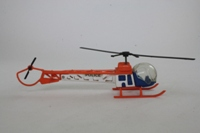Dinky Toys 732; Bell 47 Police Helicopter; Orange, Blue, White
